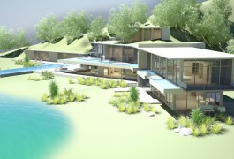 Helena Bay Beachfront Vacation Lodge & Resort Facilities | Residential Architecture | Logan Architects
