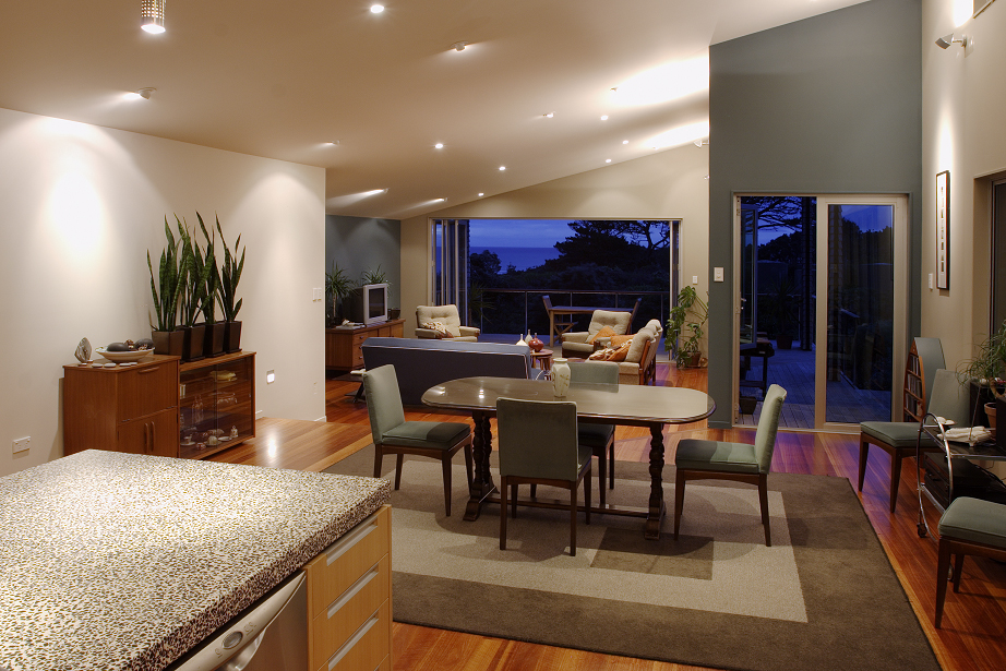 kitchen and Lounge View of Kobylarz New Residence and Private Apartment | Residential | Logan Architects